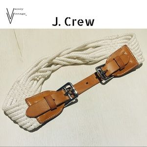 J. Crew Nautical Rope and Leather Belt